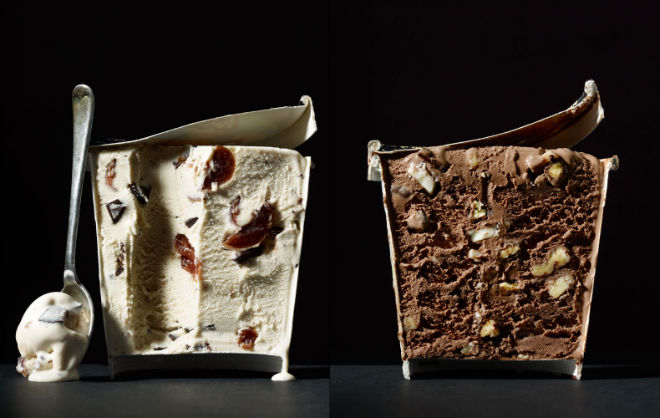 fotografia cut food helado